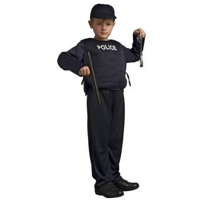 Upyaa Déguisement Policier (avec menottes et bâtons) : 3/4 ans