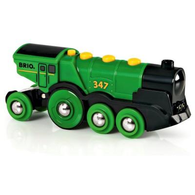 Brio Train Brio : Locomotive verte puissante à piles