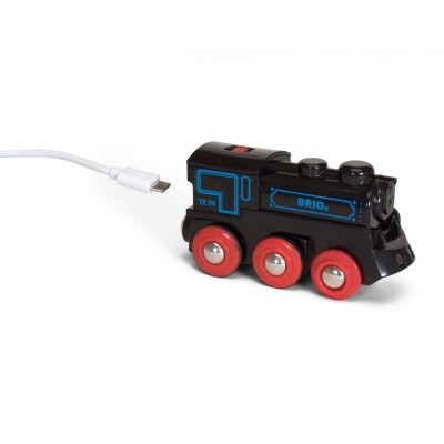 Brio Locomotive rechargeable avec mini câble USB