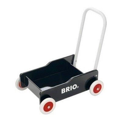 Brio Chariot de marche : bois laqué noir brio