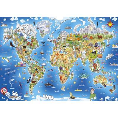 Gallimard Puzzle 250 pièces : carte du monde