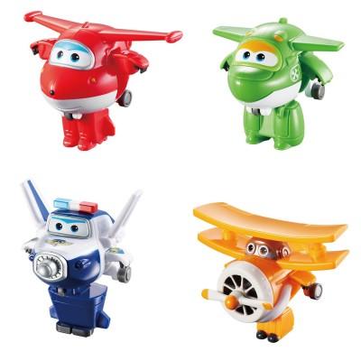 Auldey Toys mini véhicules transformables super wings : jett, albert, mira et paul