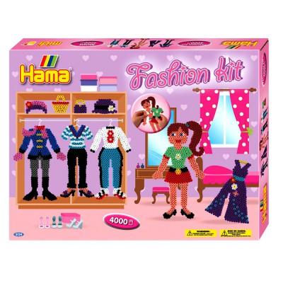Hama Boîte de 4000 perles et plaques hama midi : mode