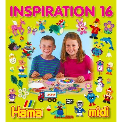 Hama Perles à repasser Hama Midi : Livre d'inspiration 16 : 68 pages