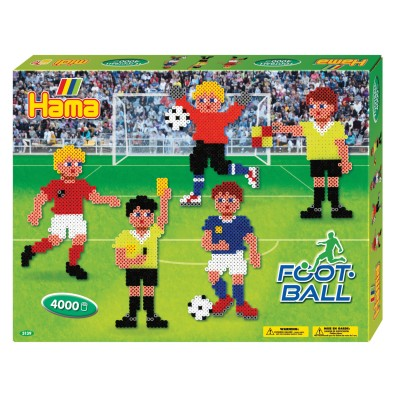 Hama Boîte de 4000 perles et plaques hama midi : football