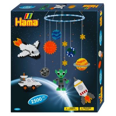 Hama Boîte de 2500 perles et plaques hama midi : mobile de l'espace