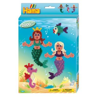Hama Boîte de 2000 perles et plaques hama midi : les sirènes