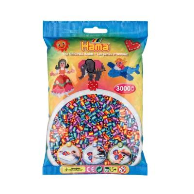 Hama Sachet de 3000 perles Hama Midi : Perles bicolores