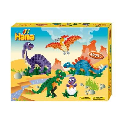 Hama Kit de perles thématique Hama midi : Les dinosaures