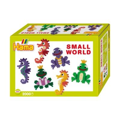 Hama Perles à repasser Hama Midi : Collection Le monde miniature : Hippocampes et grenouilles