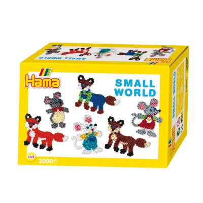Hama Perles à repasser Hama Midi : Collection Le monde miniature : Renards et souris