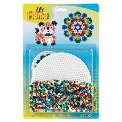Hama Kit de perles Hama midi : Plaque ronde
