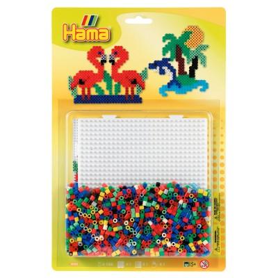 Hama Kit de perles Hama midi : Plaque carrée