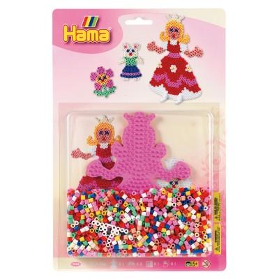 Hama Kit de perles thématique Hama midi : Les princesses