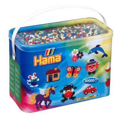Hama Baril de 30000 perles hama midi : 6 couleurs