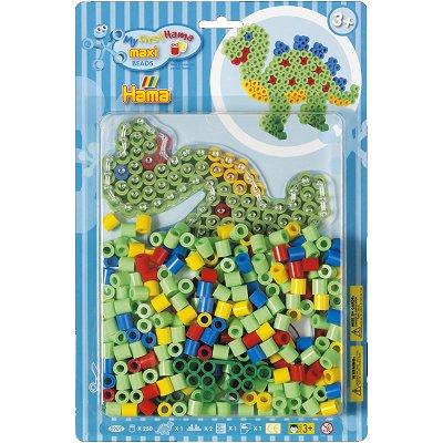 Hama Boite de 250 perles Hama Maxi Technique à repasser : Dinosaure