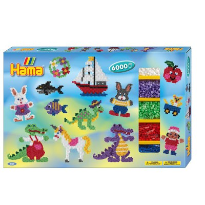 Hama Boîte de 6000 perles et plaques hama midi : géante