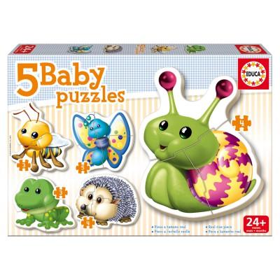 Educa Baby puzzle : 5 puzzles : les animaux de la forêt