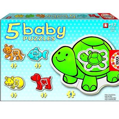 Educa Baby puzzle - 5 puzzles - les animaux de compagnie