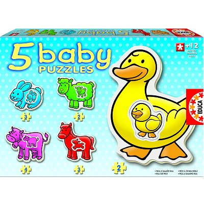 Educa Baby puzzle - 5 puzzles - les animaux de la ferme