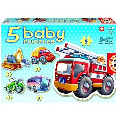 Educa Baby puzzle - 5 puzzles - les véhicules