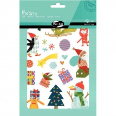 Gommettes Baby 6 planches : Noël