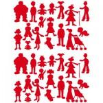 Sachet de 15 planches de stickers : La famille