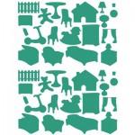 Sachet de 15 planches de stickers : La maison