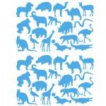 Sachet de 15 planches de stickers : Les animaux sauvages
