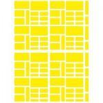 Sachet de 15 planches de stickers : Rectangle