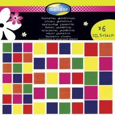 Sachet de 6 planches de stickers : Forme carrée