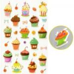 Sachet une planche de gommettes en 3D : Cakes