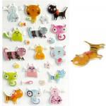Sachet une planche de gommettes en 3D : Chats