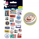 Sachet une planche de gommettes en 3D : Etats Unis