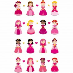 Stickers Cooky 1 planche : Princesses