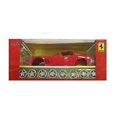Modèle réduit à assembler - Ferrari 550 Maranello - Collection Assembly line - Echelle 1/24 : Rouge - Maisto-M39018-39939R