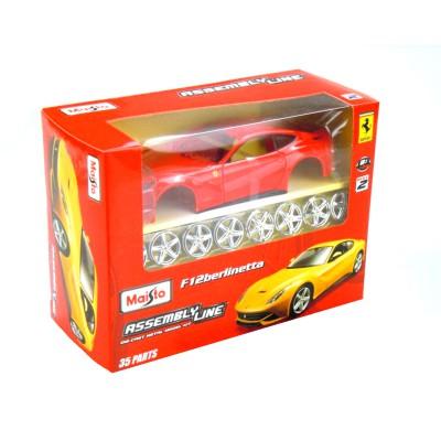 Modèle réduit à assembler Ferrari F12 Berlinetta : Collection Assembly line Echelle 1/24 : Rouge - Maisto-M39018-F12 R