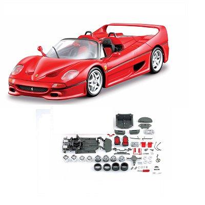 Modèle réduit à assembler - Ferrari F50 - Collection Assembly line - Echelle 1/24 : Rouge - Maisto-M39018-39822R