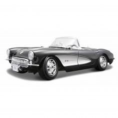 Modèle réduit Chevrolet Corvette 1957 : Noir