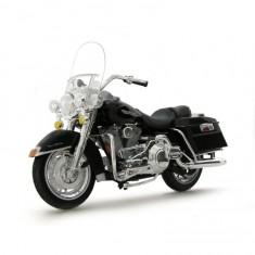 Modèle réduit de moto Harley-Davidson : FLHR Road king noire : Echelle 1/18