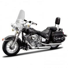 Modèle réduit de moto Harley-Davidson : FLSTC Heritage softail classic : Echelle 1/18