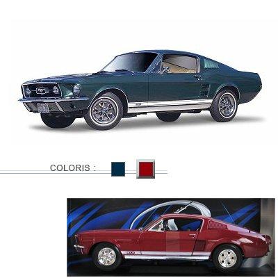 Modèle réduit - Ford Mustang Fastback (1967) - Echelle 1/18 : Rouge - Maisto-M31166R