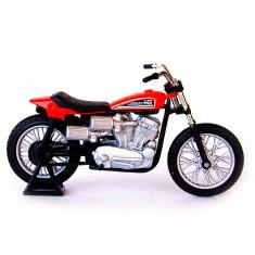 Modèle réduit Moto Harley-Davidson : 1972 XR750 RACING Bike Rouge : Echelle 1/18