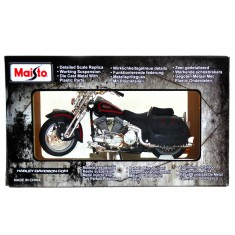 Modèle réduit Moto Harley-Davidson : 1998 FLSTS Heritage Springer Noir et rouge : Echelle 1/18