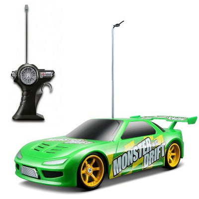 Voiture radiocommandée Monster Drift : Sideway : Vert - Maisto-M81161V