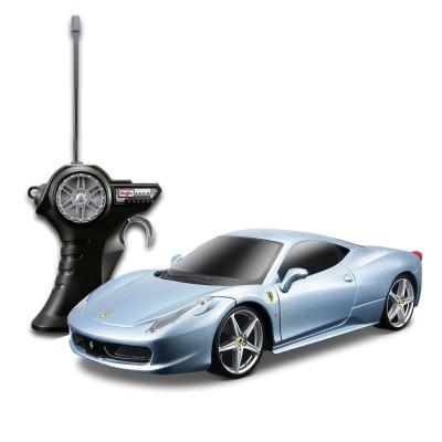 Voiture radiocommandée Ferrari 458 Italia : Echelle 1/24 : Gris - Maisto-M81058G