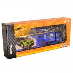 Camion Racing Truck + 2 voitures : Camion bleu Abù Dhabi