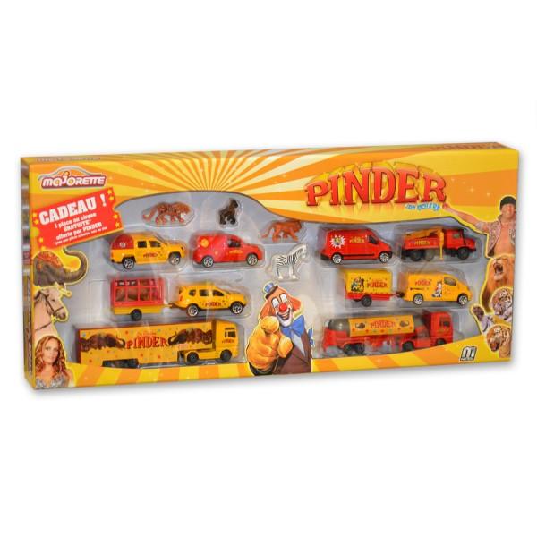voitures majorette set cirque pinder 11 v hicules et 4 figurines jeux et jouets majorette. Black Bedroom Furniture Sets. Home Design Ideas