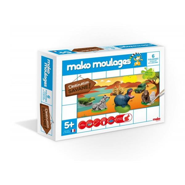 moulage en pl tre mako moulages 3 moules savane jeux. Black Bedroom Furniture Sets. Home Design Ideas