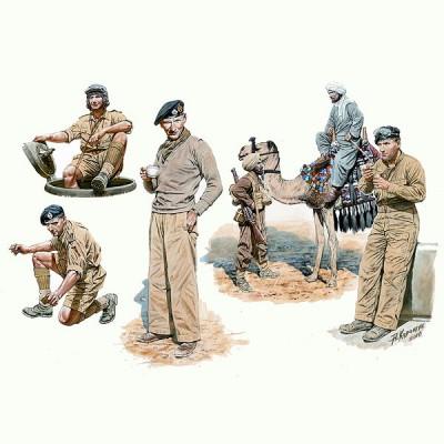 Figurines 2ème Guerre Mondiale : Ensemble 8e Armée Britannique: Afrique du Nord 1942 - Masterbox-MB3564